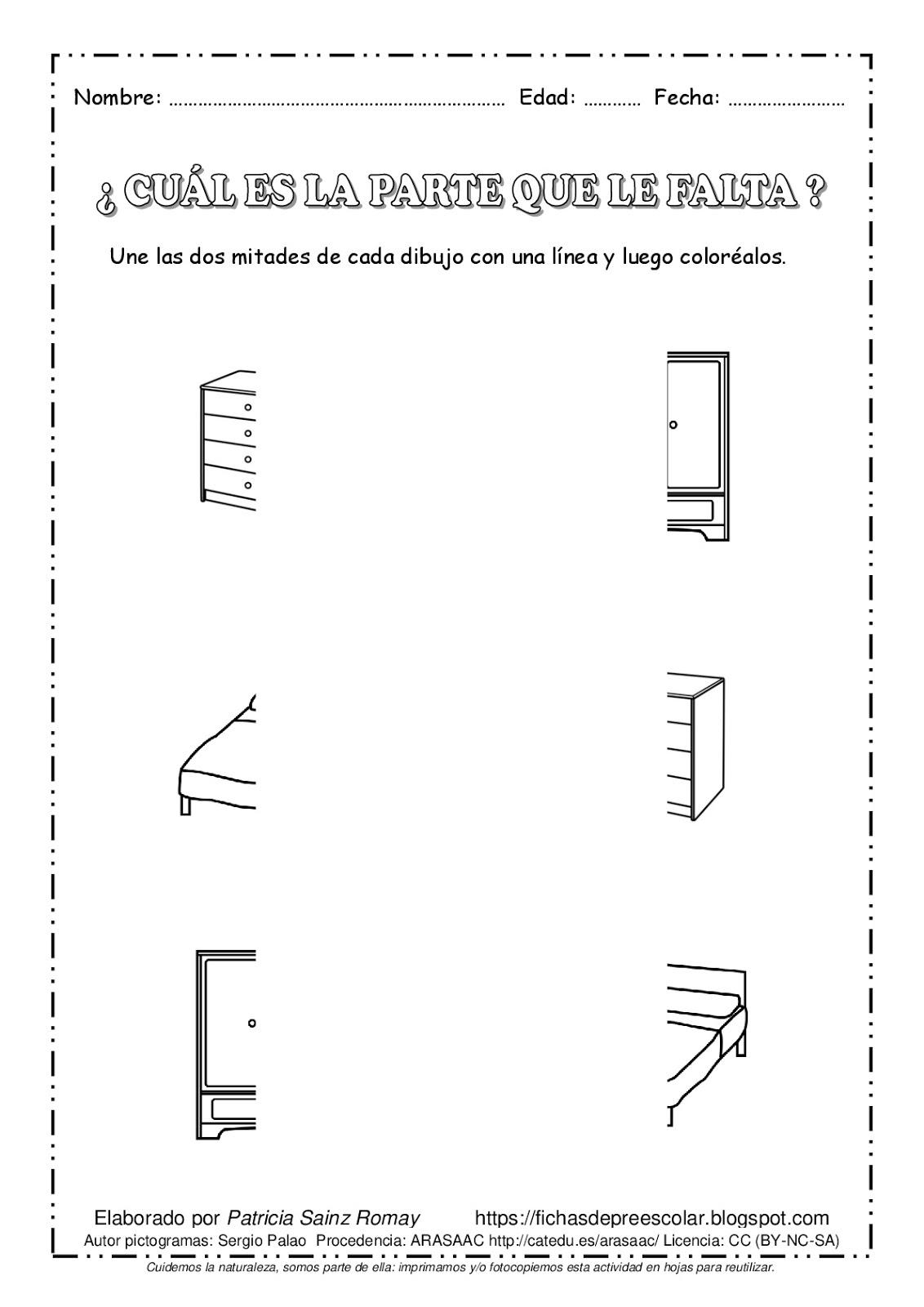 Fichas De Educación Preescolar Percepción Visual