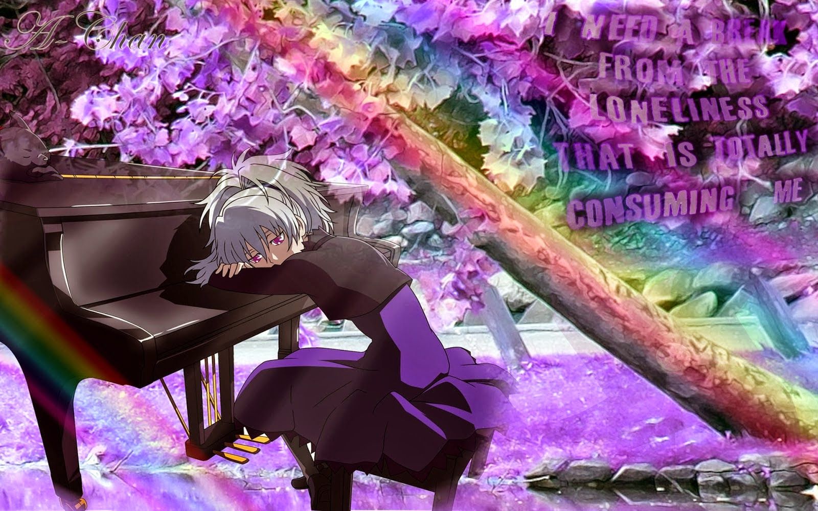Rain Boy And Girl Wallpaper Sad Anime Girl Facebook Cover I M So Lonely