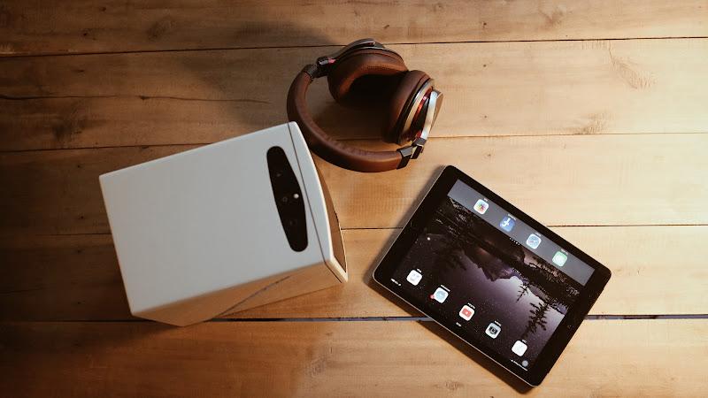 iPad Tablet. Audio-Technica Headphones 2