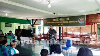 Dalam Rangka Serbuan Teritorial Kodim 0402 OKI Adakan Bakti Sosial TNI Tahun 2016