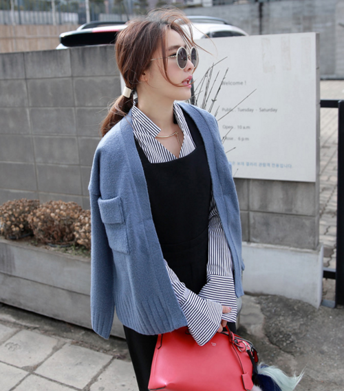 Two Pocket Knit Cardigan