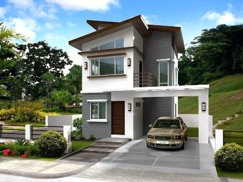 50 Low Cost Two Story House Designs For Small Land Area ...