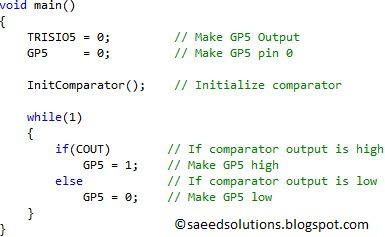 PIC12F675 Comparator Code + Proteus Simulation | Saeed's Blog