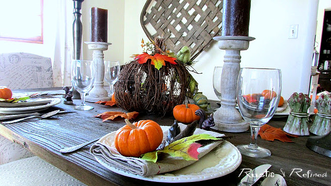 Tablescape using fall colors