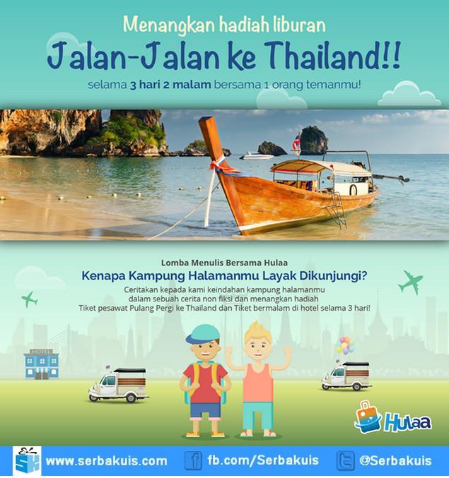 Kontes Menulis Bersama Hulaa Hadiah Tiket ke Phuket + Hotel