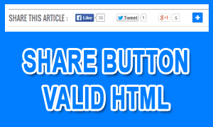 Share Button Valid HTML5