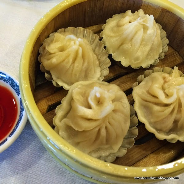 Shanghai dumplings at  Hong Kong Flower Lounge restaurant in Millbrae, California