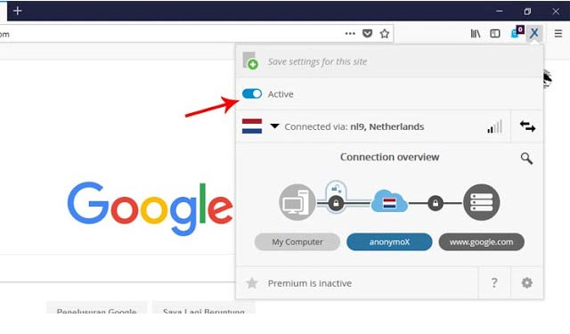 Cara membuka internet positif di Firefox