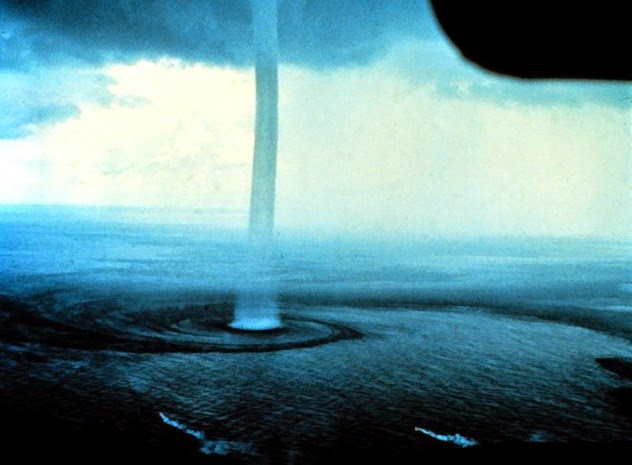 7. Waterspouts: These are tornadoes that form over water and although they generally aren't dangerous if you're on land, their wind speeds do reach up to 190 miles (305 kilometers) per hour. So it's safe to say that if you're on a boat or living on the coast, you should probably do your best to avoid them. - Sometimes Nature Is Awesome. Other Times, It'll Scare The Life Out Of You. Like This.