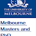 Melbourne Masters and PhD Scholarships in Australia in 2018