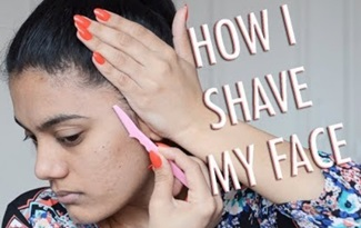 How I shave my face | With Love Sindhu