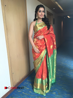 Actress Raashi Khanna Latest Pictures in Silk Saree  0007