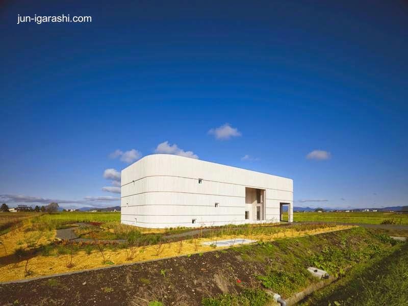 Casa japonesa contemporánea en zona rural