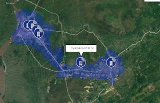 Jaringan 4G LTE AXIS di Kalimantan Selatan