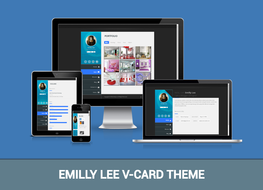 Download Emilly Lee vCard Blogger Template