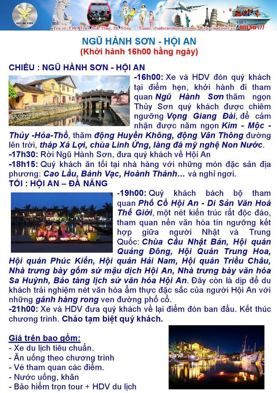 Du lịch Ngũ Hành Sơn - Hội An