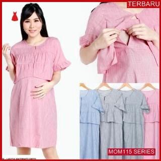 MOM115D13 Dress Hamil Menyusui Rompi Kantor Dresshamil Ibu Hamil