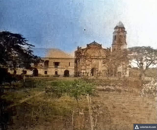 The church in San Jose, Batangas in 1911.  Image source:  The Luther Parker Collection at the National Library of the Philippines.  Colorized courtesy of Algorithmia.
