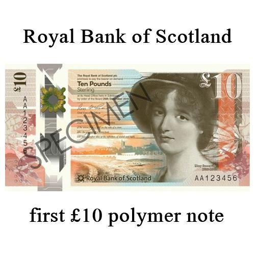 Scotland £10 polymer
