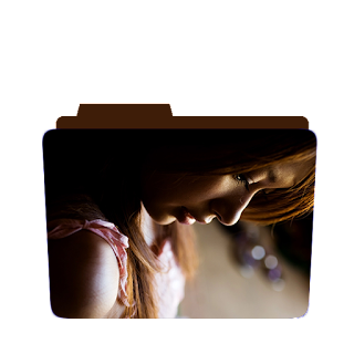 Preview of girl, blonde, wallpaper folder icon