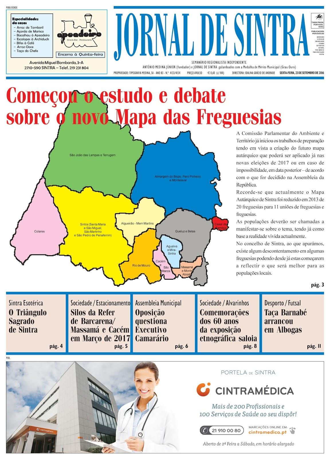 Capa da edição de 23-09-2016