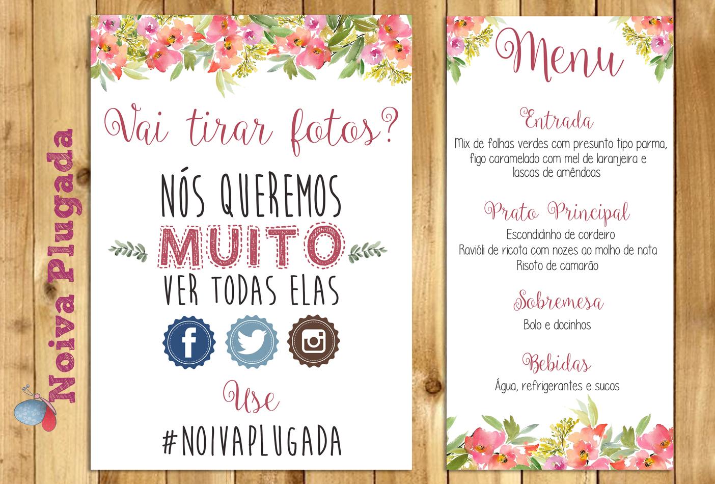 Noiva Plugada Download Papelaria Do Casamento Flores Rosas