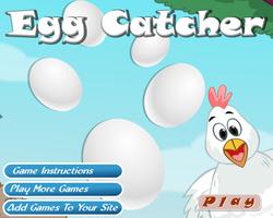 لعبة جمع بيض الفراخ