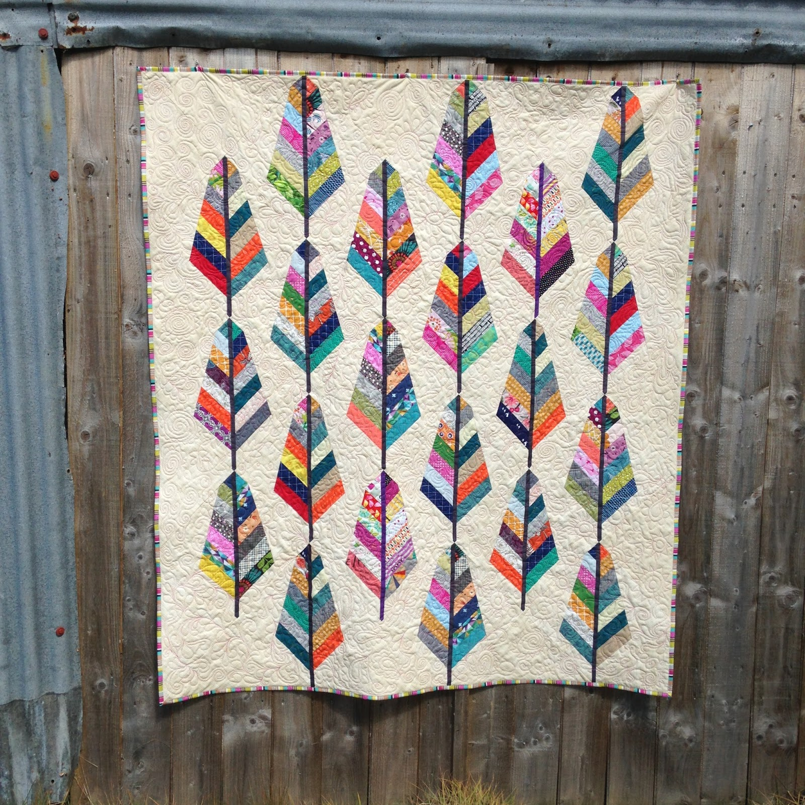 Feathers Quilt for Siblings Together • myBearpaw Blog by Jo Avery : feather quilt pattern - Adamdwight.com