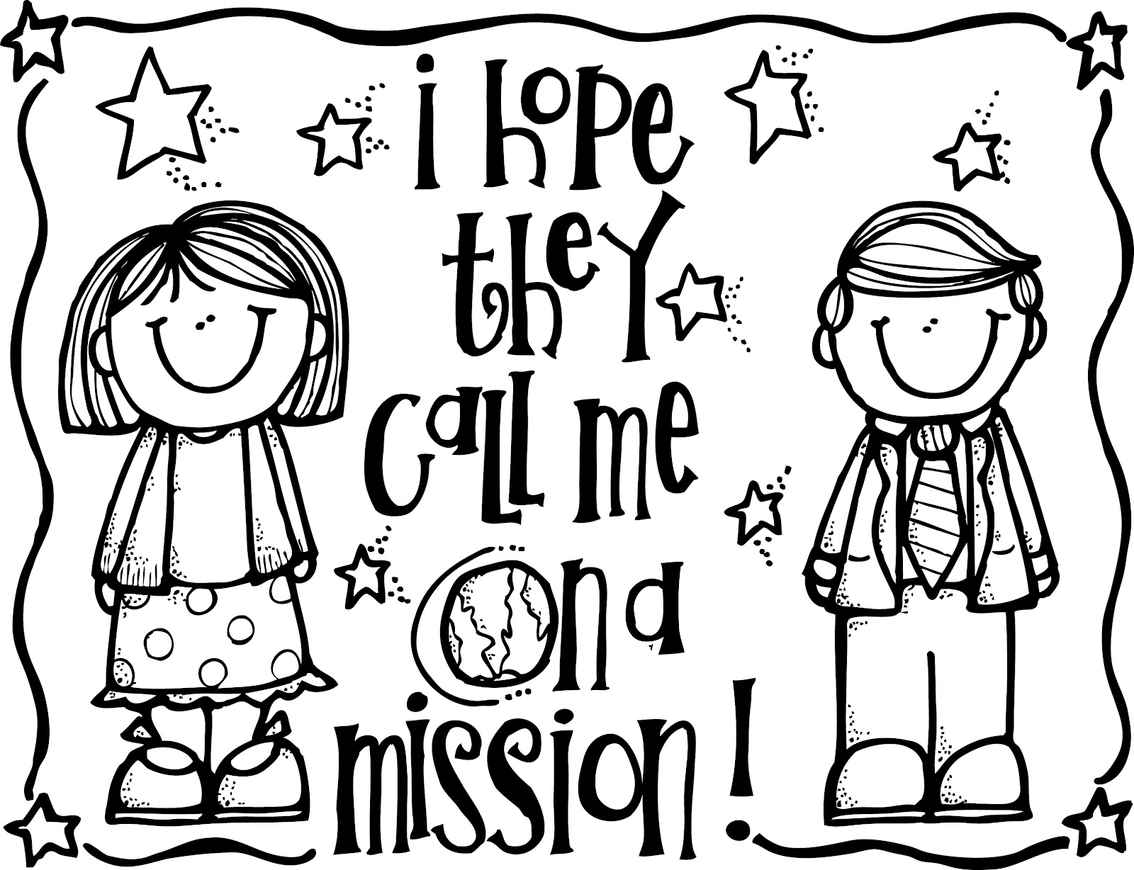 Coloring Page About Missions Coloring Pages