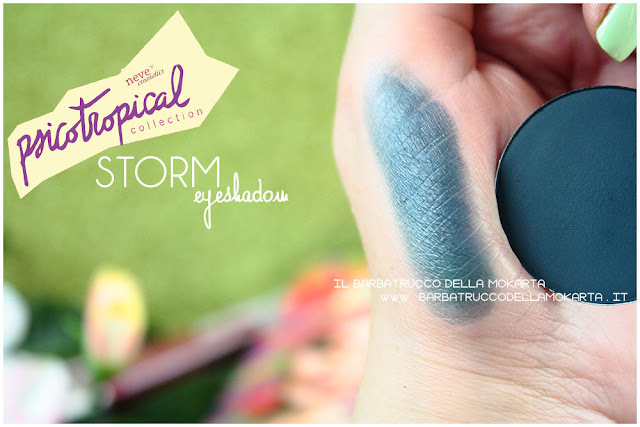 eyeshadow ombretti STORM SWATCHES psicotropical collection neve cosmetics