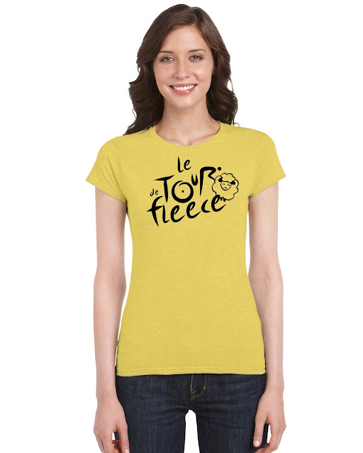 tour De Fleece yellow T Shirt