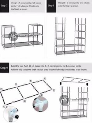 Rak Pakaian Jumbo / Rak Baju Jumbo / Lemari Portable Serbaguna
