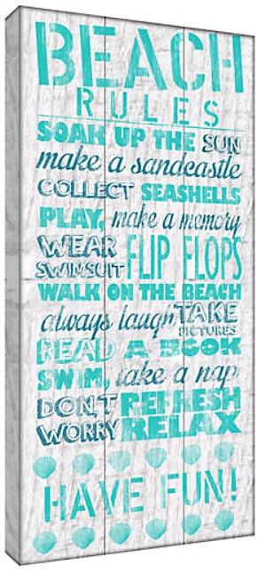 Beach Rules Canvas