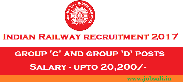 Railway jobs, Indian Raliway vacancy, Indian Railway Group c and Group D Recruitment