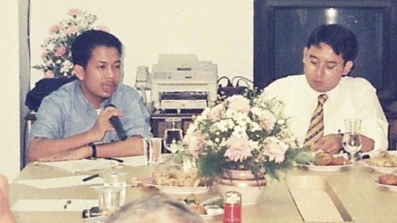 Foto lawas Fahri Hamzah dan Fadli Zon saat 1998