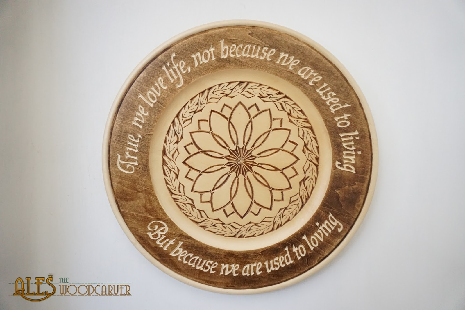 Ales the woodcarver stained plates