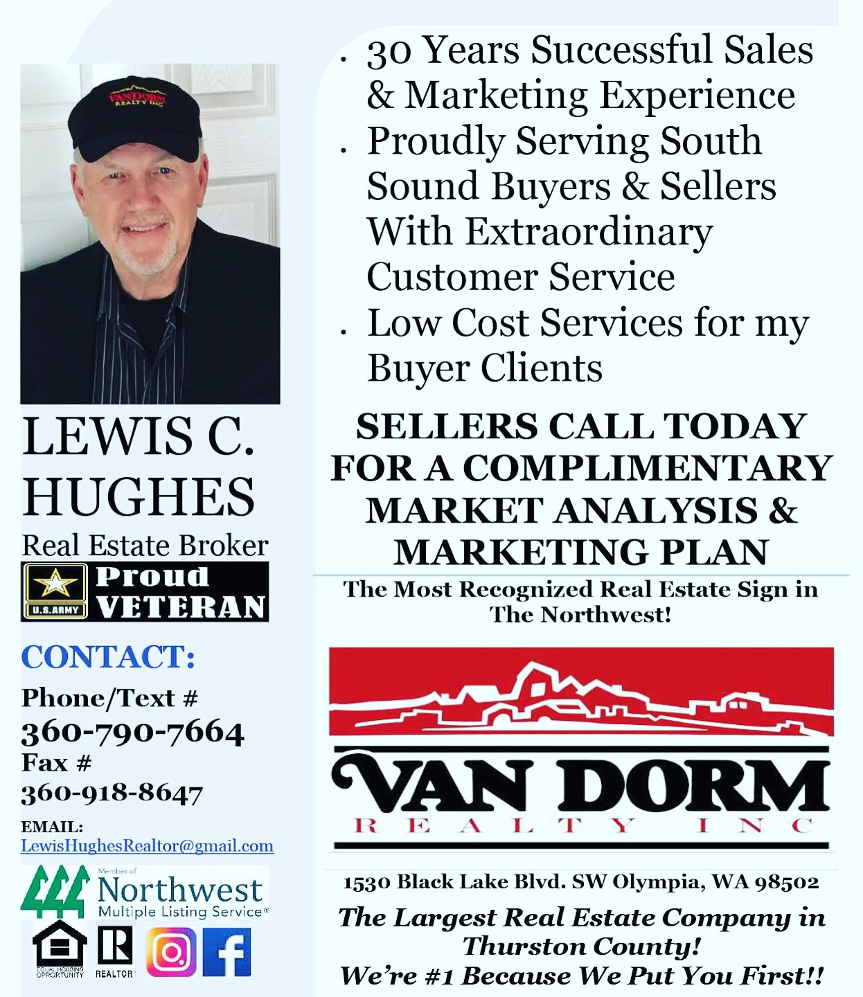 Lewis Hughes Your Premier Real Estate Agent @ Van Dorm Realty, Inc.