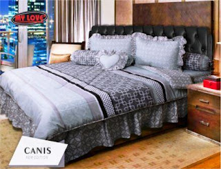 Sprei dan bed cover my love motif Canis