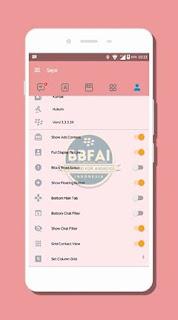BBM MOD Tema NAF-Chat SweetPink V3.3.3.39 Apk Terbaru