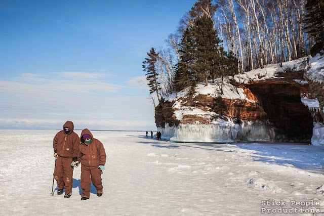 (c) Stick People Productions - Lake Superior Ice Caves