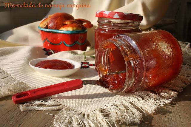naranjas sanguinas, mermelada