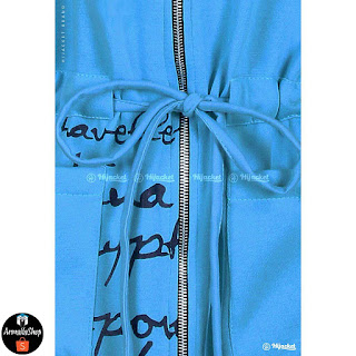 Jaket Muslimah Hijacket Urbanashion Harbor Biru