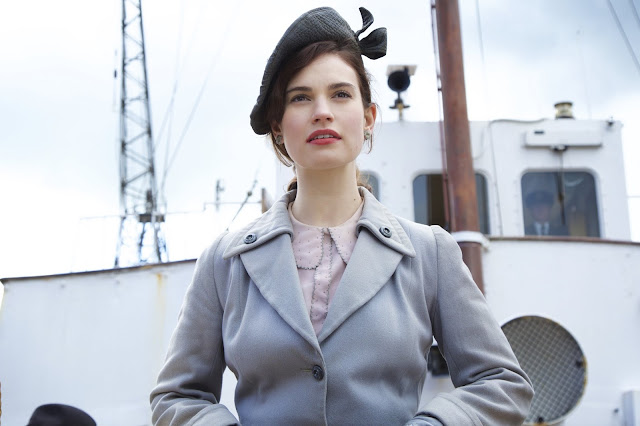 First Look The Guernsey Literary And Potato Peel Pie Society Lily James as Juliet Ashton