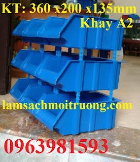 Khay nhựa xếp tầng, khay linh kiện, kệ dụng cụ A6 giá rẻ