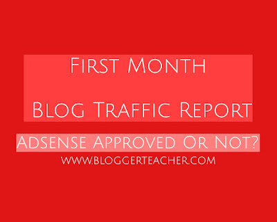 first month blog traffic report