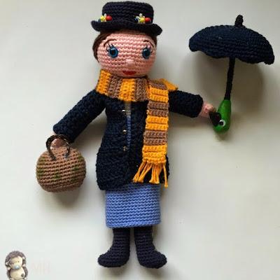 Кукла Мэри Поппинс амигуруми