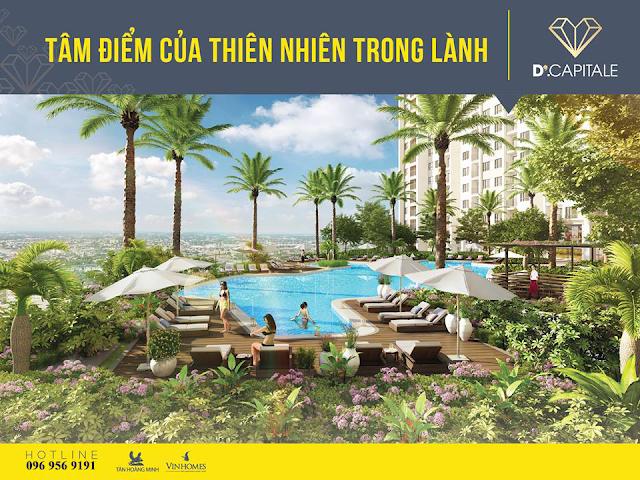Hệ thống cây xanh dự án Vinhomes Trần Duy Hưng
