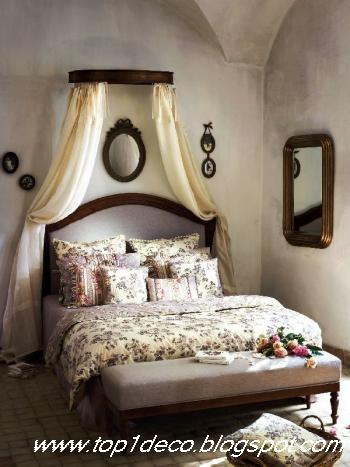 New decorating chambre romantique et ciel de lit Modele de chambre romantique