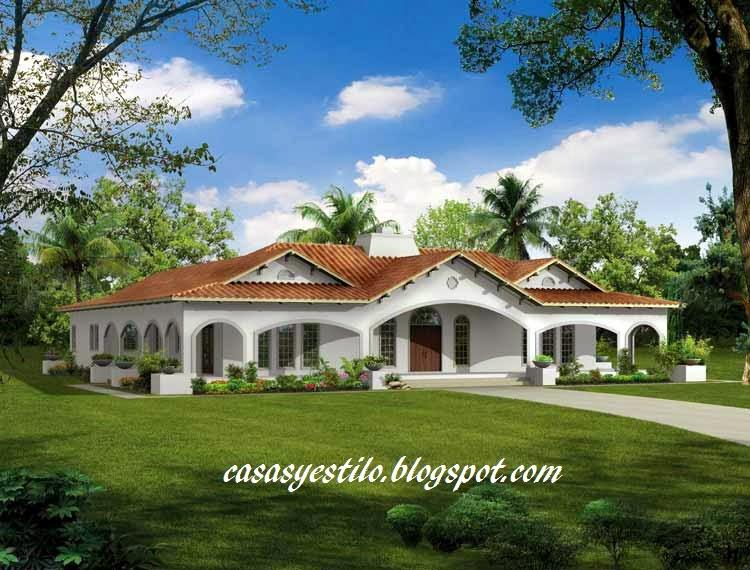 las casas con diseño español