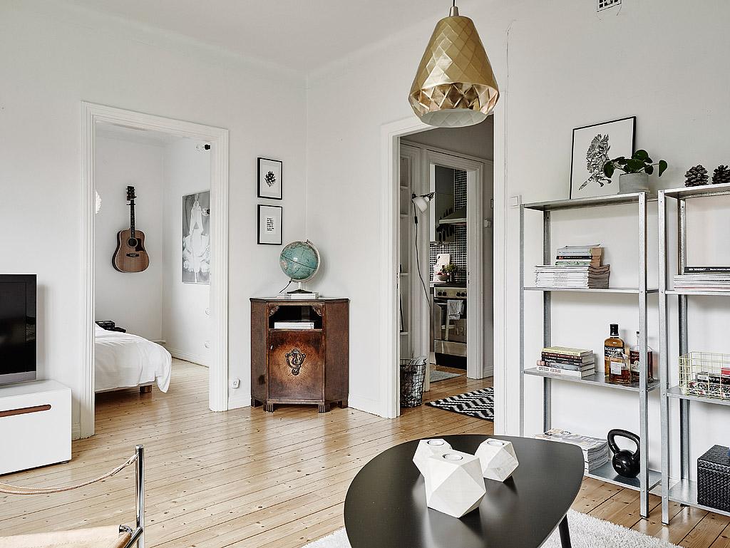 Design attractor snug swedish apartment for Decoracion aptos modernos
